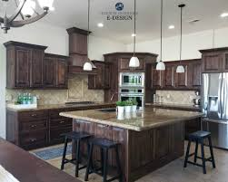 kitchen wall paint with brown cabinets update oak or wood cabinets without a drop of paint