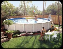 Backyard Landscaping Ideas With Above Ground Pool Above Ground Pool Landscaping Aqua Blue Pools U0026 Spas No Longer