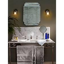 buy john lewis white marble bathroom accessories tray john lewis