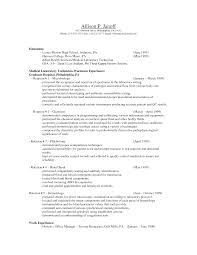 Sample Resume For Medical Laboratory Technician by Functional Resume Examples For Stay At Home Moms 3 The Stay At