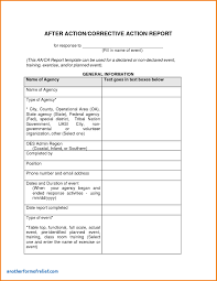 after event report template after event report template new corrective report template
