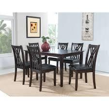 powell furniture 358 730a masten 7 piece dining set in espresso