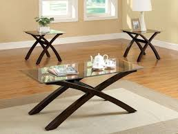 Glass Top Coffee Tables And End Tables Extraordinary Wood End Tables With Glass Top Cherry Side