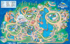 Florida Attractions Map Theme Park Attractions Map Seaworld San Diego Within Sea World