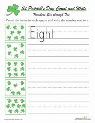 count and write st paddy u0027s day worksheet education com