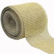 bling ribbon 4 75 1 yards wedding wrap mesh bling ribbon home table party
