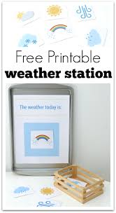 printable weather station for preschool no time for flash cards