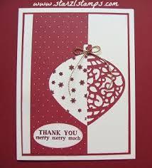 emb ornaments cherry cob stin up cartes de noël