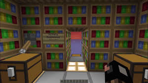 Minecraft Secret Bookshelf Door Minecraft 2x1 Bookshelf Flush Door Youtube