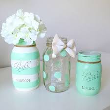jar centerpieces for baby shower do s and don ts of baby shower etiquette mint paint jars decor