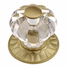 where to buy kitchen cabinet handles in singapore 1 1 4 inch clear acrylic melon cabinet knob with satin gold backplate 235140 sg