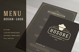 restaurant menu with logo design brochure templates creative