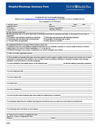 How To Make A Hospital Discharge Paper - discharge papers fill printable fillable blank