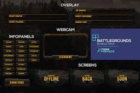 pubg twitch battlegrounds twitch overlay pubg stream overlay