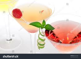 martini strawberry martini alcohol cocktails row margarita tequila stock photo