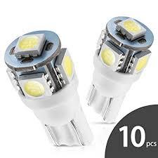 led replacement light bulbs for cars amazon com marsauto 194 led light bulb 6000k 168 t10 2825 5smd led