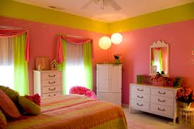 amazing impresive green and pink girls bedroom at pink bedroom