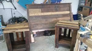 pallet bed headboard u0026 nightstand u2022 1001 pallets
