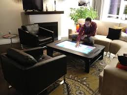Touch Screen Coffee Table by Touchscreen Desk Already Exists U0026 Comes With A 7 000 Price Tag