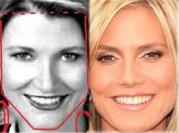 what face shape heidi klum beth broderick heidi klum face shapes 101