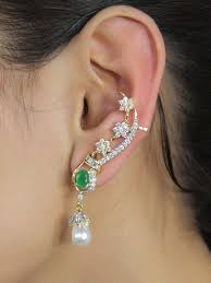 ear cuffs india indian gorgeous ethnic style party wear ear cuff fashion