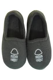 boys slippers black with white forest motif
