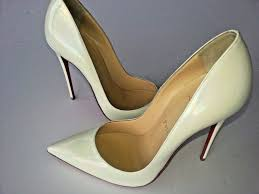 christian louboutin so kate 120 iridescent patent white heel pump