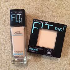 review maybelline fit me matte poreless foundation u0026 powder