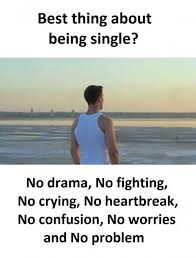 Being Single Memes - dopl3r com memes best thing about being single no drama no