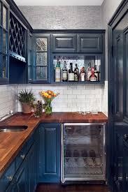 are blue cabinets trendy chic blue touch kitchen design kitchen interior