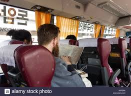 Seoul Subway Map by European Male Looking At Seoul Subway Map On Airport Shuttle Bus