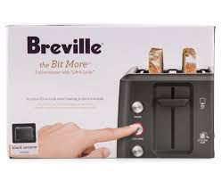 Breville Electronic Toaster Catch Com Au Breville The Bit More 2 Slice Toaster Black Sesame