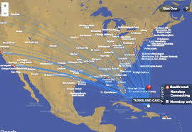 swa route map you can now book southwest flights to turks caicos deals we like