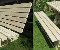 Plans For Picnic Table Bench Combo by Picnic Table And Bench 2 In 1 7 Steps With Pictures