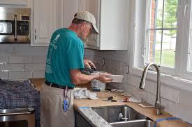 kitchen backsplash installation blue van handyman services