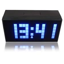 excellent blue digital wall clock 82 active living oversized