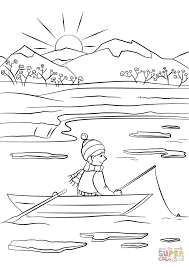 spring fishing coloring page free printable coloring pages