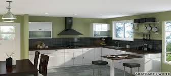 Black Kitchen Wall Cabinets Furniture Killer U Shape Light Green Kitchen Decoration Using