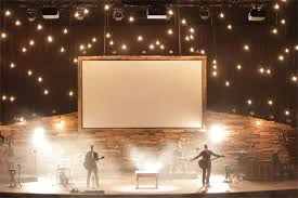 mountain star church stage design idea rustic interior design for