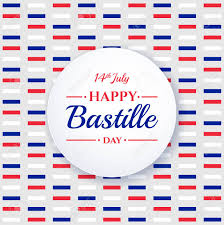French Flag Banner Happy Bastille Day 14th July French National Holiday Design