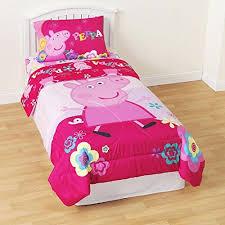 Peppa Pig Duvet Cover 100 Cotton Pig Bedding Amazon Com