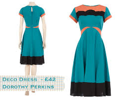 dorothy perkins turquoise deco midi dress