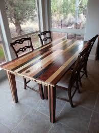 Wood Dining Room Tables And Chairs by Dining Room Table I Made From Pallet Wood Pallet Wood Projects