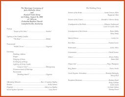 Wedding Bulletin Template Program Template Moa Format