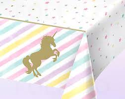 themed table cloth unicorn tablecloth etsy