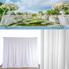 Wedding Backdrop Accessories Aliexpress Com Buy Wedding White Sheer Silk Drapes Panels 2 4x1