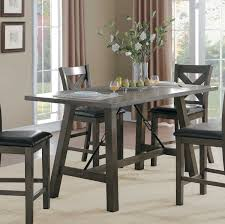 Tall Dining Room Sets by Homelegance Seaford Rectangular Counter Height Dining Table Gray