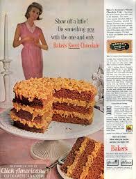 german chocolate cake u0026 coconut pecan frosting 1961 click