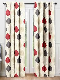 Cherry Kitchen Curtains by Cherry Leaf Red Ready Made Curtains From Curtains 2go Cute