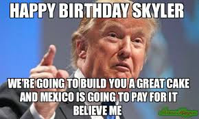 Skyler Meme - happy birthday skyler we re going to build you a great cake and